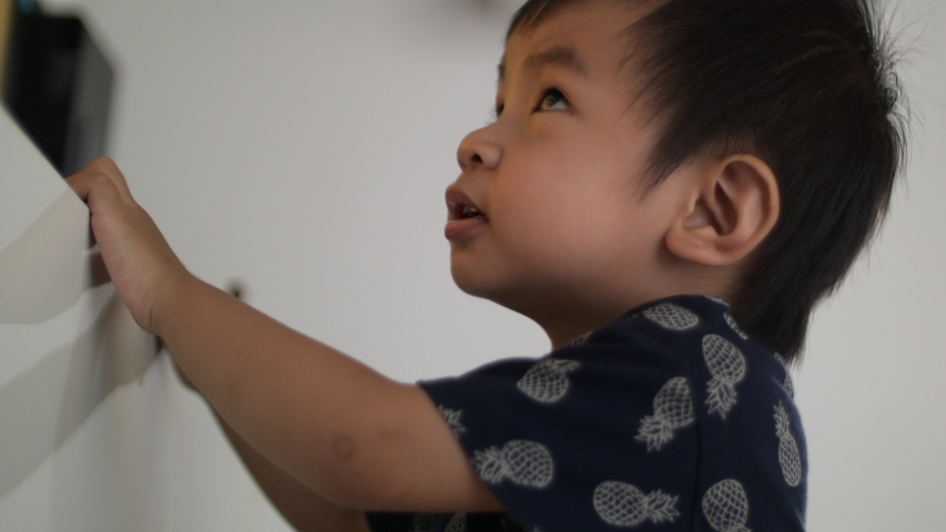 Baby boy playing toys at home | Shutterstock HD Video #1031309774
