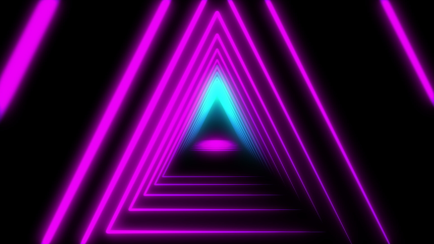 Abstract Lights neon triangles. Loop animation. | Shutterstock HD Video #1031407964