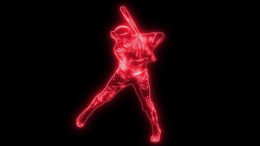 Set of Baseball player silhouette video animation | Shutterstock HD Video #1031710934