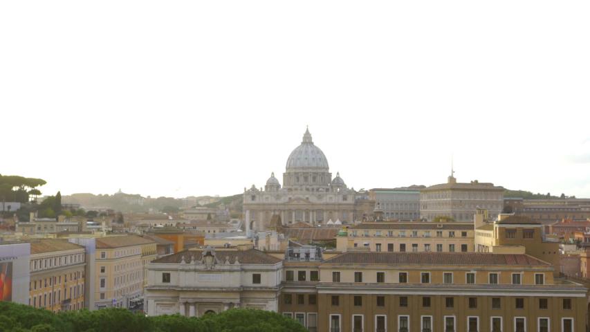 Vatican Cityscape Golden Hour Time Lapse | Shutterstock HD Video #1031833304