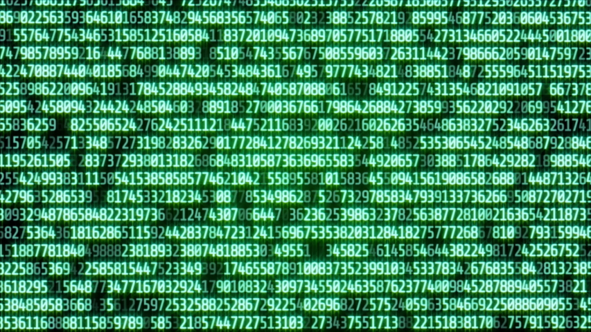 Digital Data Binary Code Number Bit Transfer Technology. Abstract Futuristic Matrix Array Display For Scifi Information Background. | Shutterstock HD Video #1031855864