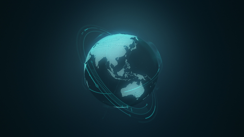 World Map Digital earth globe background #1032481154