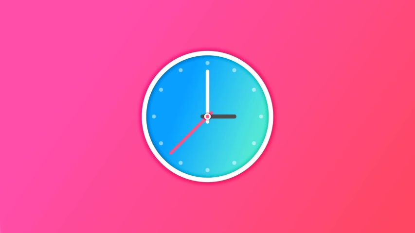 Animation Of Animated Clock Ticking Gradient Color Background | Shutterstock HD Video #1032789104