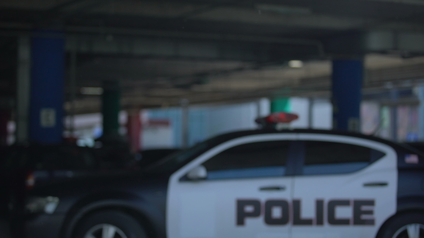 Police mates greeting each other and going to patrol car, ready to carry duties | Shutterstock HD Video #1033112324