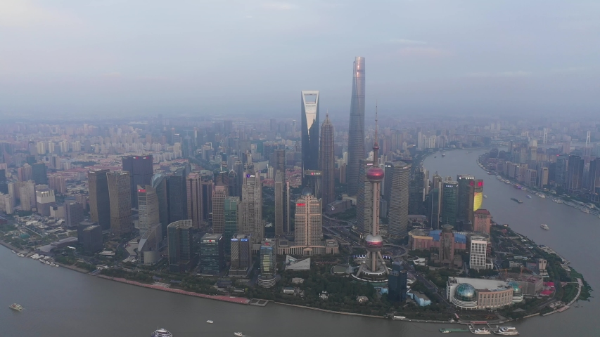 Asian China Shanghai City Architecture Scenery | Shutterstock HD Video #1033395524