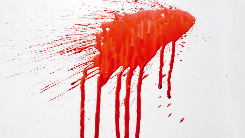 Blood splash on white background    Shutterstock HD Video #1033535774
