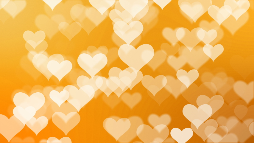Heart glittering particle background. Abstract glitter defocused gold background. Seamless looping animation. | Shutterstock HD Video #1033568354
