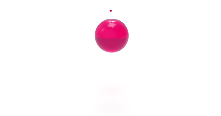 Rose Liquid Pours an Invisible Ball. 3D Animation of Loading Screen.   Shutterstock HD Video #1033932524