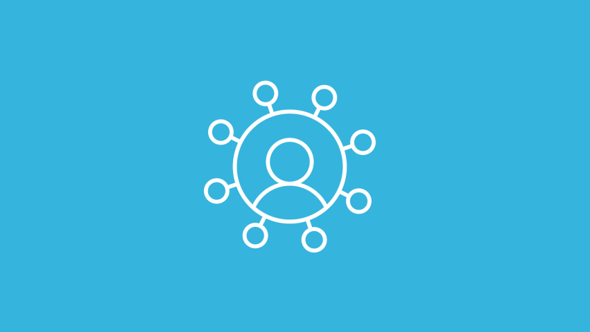 Social Network  Line Icon Animation with Alpha stock video | Shutterstock HD Video #1033973744