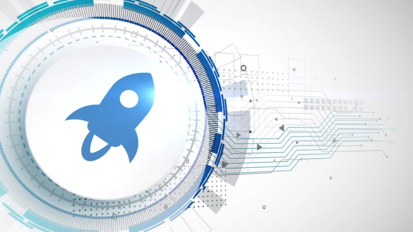 Stellar lumens cryptocurrency icon animation white digital elements technology background video | Shutterstock HD Video #1034416874