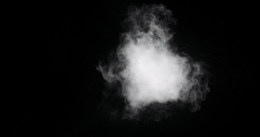 White spray gas cloud isolated on black background | Shutterstock HD Video #1034615294