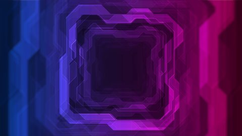 Blue and purple neon geometric lines abstract tech motion graphic design. Futuristic retro background. Seamless looping. Video animation Ultra HD 4K 3840x2160