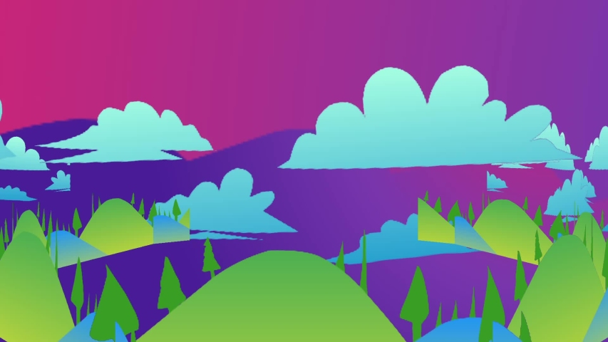 Cloud and rainbow backgrounds result from rendering | Shutterstock HD Video #1034781674
