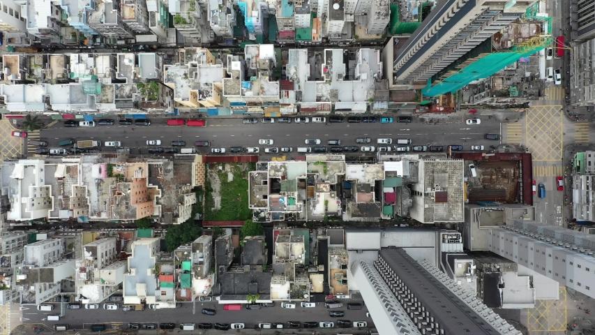 Hong Kong Kowloon city drone | Shutterstock HD Video #1034839424