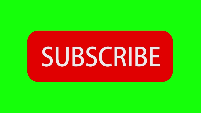 Animation of Social Network. Subscribe Button and Bell Notification on Green Screen (Chroma Key) Background. | Shutterstock HD Video #1034935334