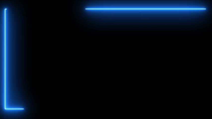Blue, Green  and Pink color Neon Frame  on block background spectrum looped animation  | Shutterstock HD Video #1035014684