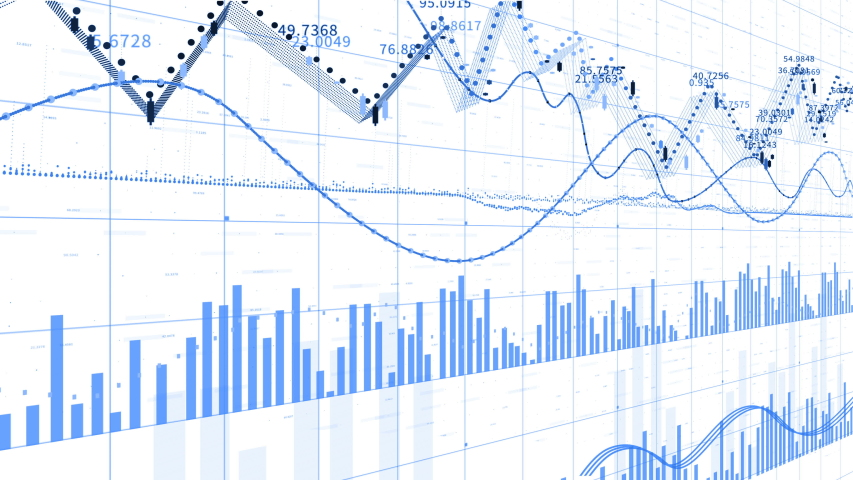 4k Financial data and diagrams showing a steady increase in profits,growing charts and flowing counters of numbers,Economy background,Business digital Data trend hud Graph,Stock Market,world map. | Shutterstock HD Video #1035043364