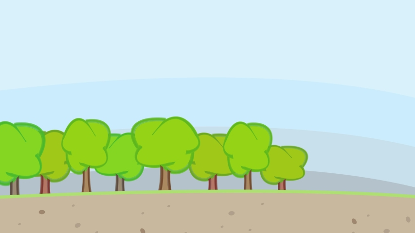 Deforestration And Forestry Machine Cutting Trees To Turn Land Into City With Buildings And Factories | Shutterstock HD Video #1035144974