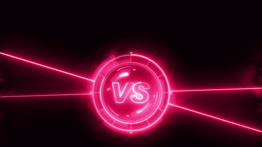 Futuristic sports game loop animation. Versus fight background. Radar neon digital display. VS. Game control interface element. Battle fight sports competition. | Shutterstock HD Video #1035187424