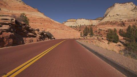 Zion National Park Hyperlapse Driving Time Lapse Checkerboard Mesa Utah