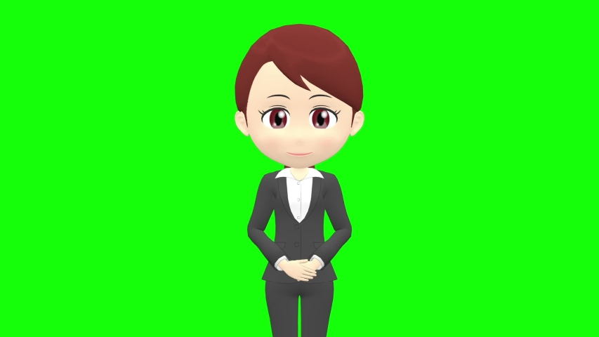 [Presentation A] Woman B suit front upper body | Shutterstock HD Video #1035326774