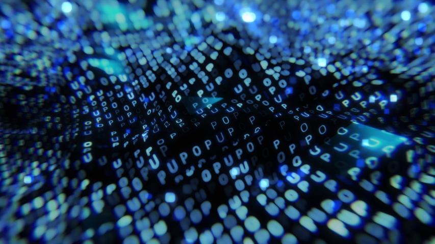 Big data digital code. Futuristic information technology concept. | Shutterstock HD Video #1035341354