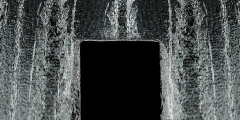Waterfall texture loop 4K with, isolated on black with alpha. Any question contact  drinkmilk.vh at gmail.com