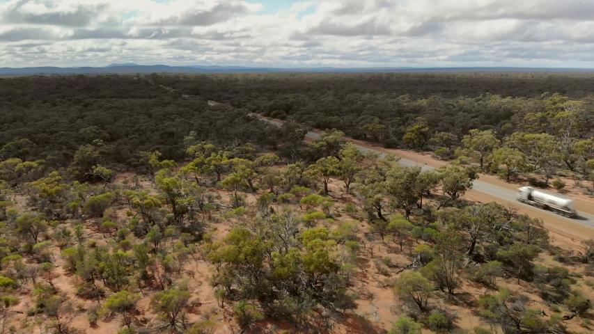 Small Truck Traveling the Australian bush    Shutterstock HD Video #1035435734