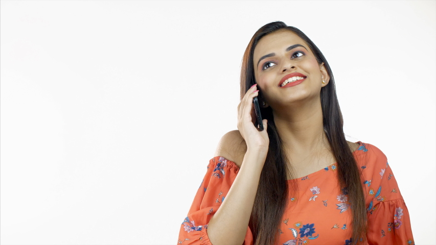 Indian Woman Talking on the Phone Free Stock Video Footage