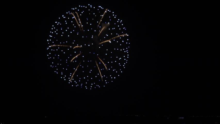 Fireworks Beautiful fireworks to celebrate   Shutterstock HD Video #1035836084