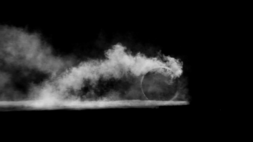 Burnout wheels with smoke on black background | Shutterstock HD Video #1036116344