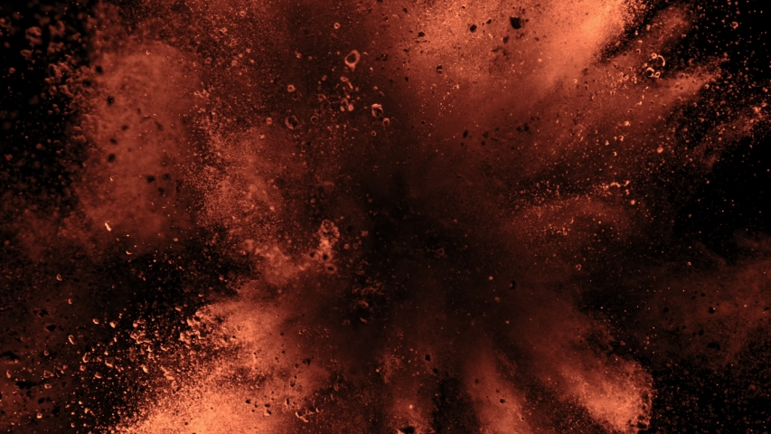 Super Slow Motion Shot of Cocoa Powder Explosion Isolated on Black Background at 1000fps. | Shutterstock HD Video #1036165664