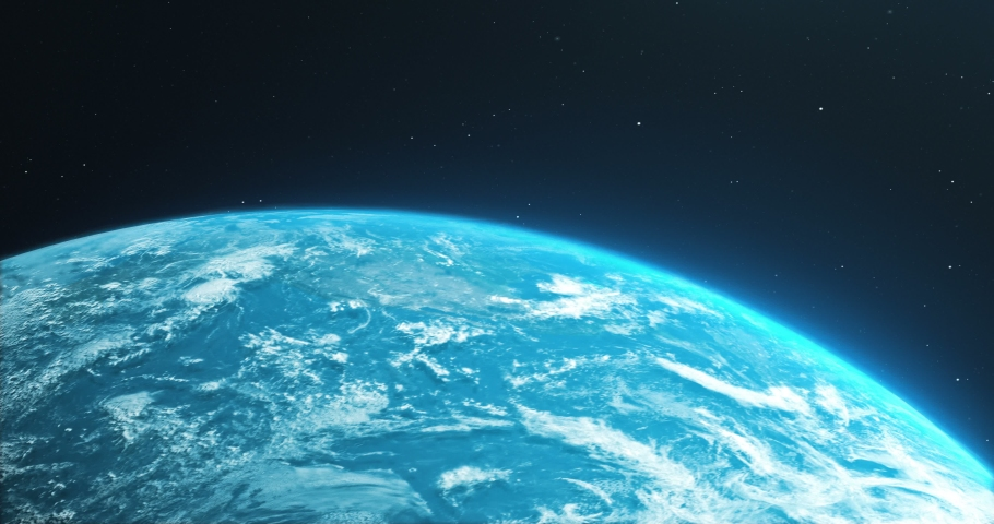 Earth Rotate. Rotating Earth In Deep Space. Earth Globe 4K. Round Planet In Deep Space. | Shutterstock HD Video #1036343294