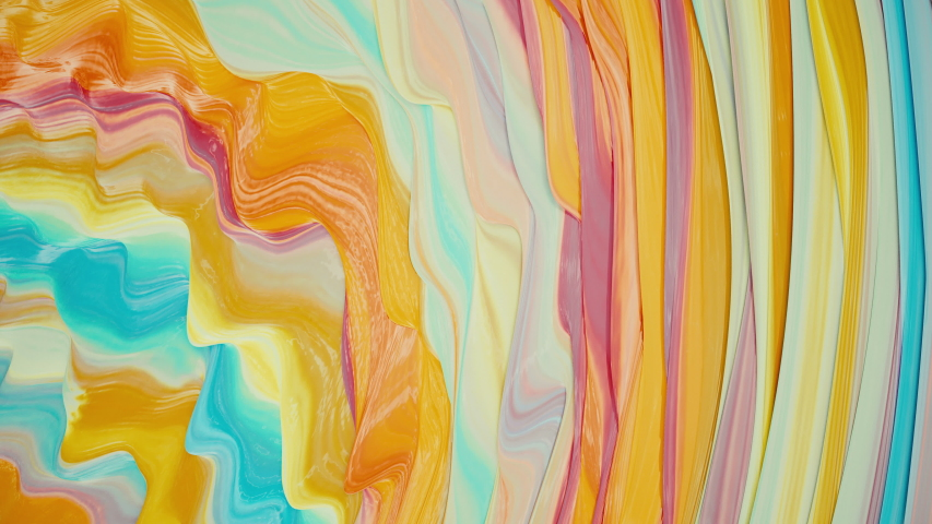 Color paint animation. Colorful animated lava background. Abstract beautiful liquid background. Watercolor paint wave abstract background animation. Template for Childrens Events #1036925594