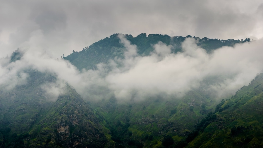 Fog timelapse after rain in himalayas | Shutterstock HD Video #1037003204
