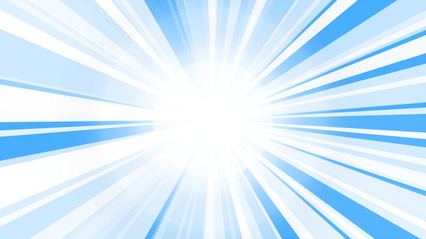 White Sunburst Starburst rays background. Rotating Sun ray animation background. Animated shining sun against bright blue sky | Shutterstock HD Video #1037094254