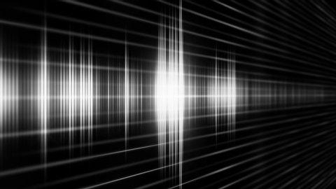Radio transmission in digital sound form on the black background.