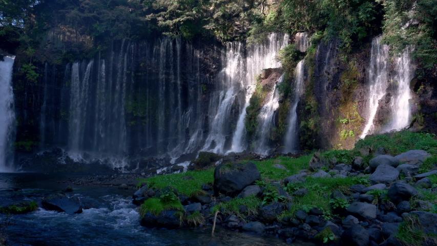 Shiraito Falls in Japan (pan) | Shutterstock HD Video #1037349164