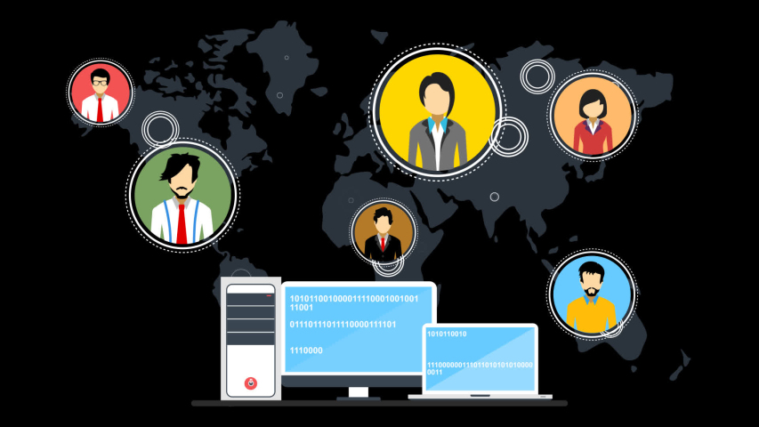 People across the world are connected through computer system, internet and servers. | Shutterstock HD Video #1037419544