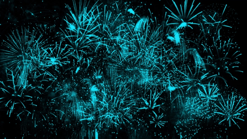 4K. loop seamless of real fireworks background. abstract blur of real golden shining fireworks with bokeh lights in the night sky. glowing fireworks show. New year's eve fireworks celebration | Shutterstock HD Video #1037447474