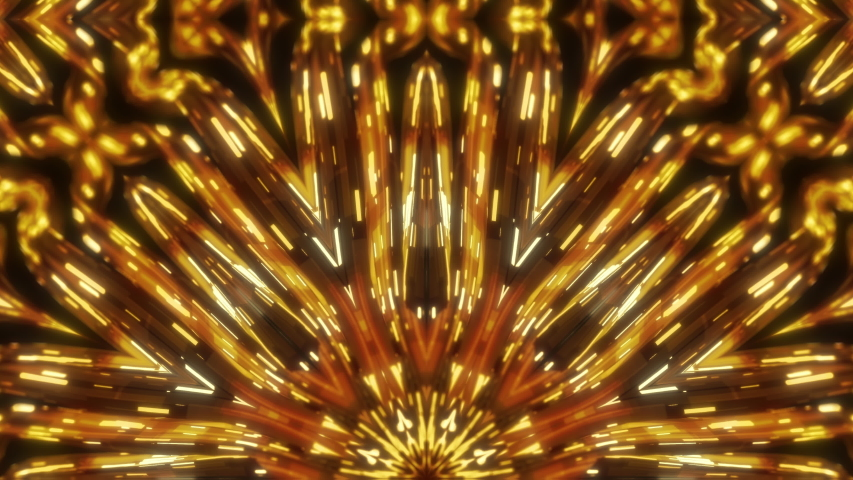 Golden awards stage kaleidoscope seamless animation for fashion and awards show, events, music videos, LED screens, video-mapping, stage design and projection show. | Shutterstock HD Video #1037499254