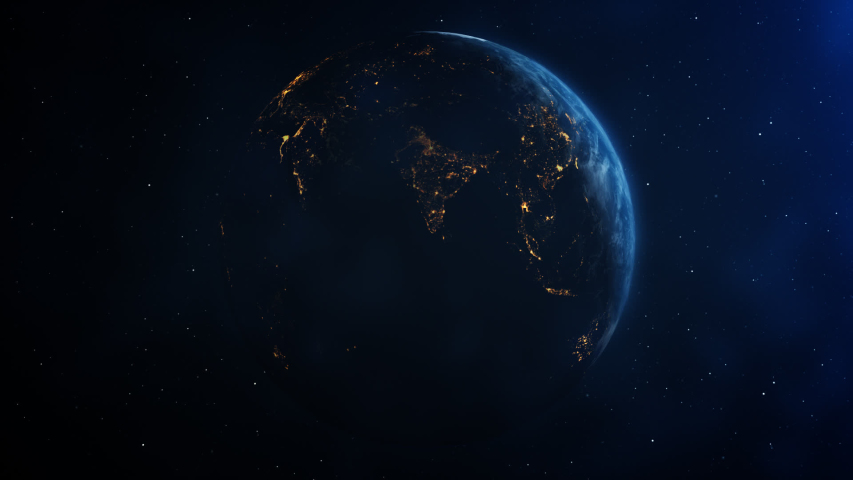 Realistic Earth from night to day Thailand zoom in from space | Shutterstock HD Video #1037635844