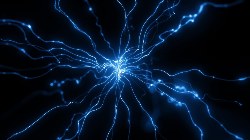 Particle energy. Abstract technology and artificial intelligence   Shutterstock HD Video #1038034634