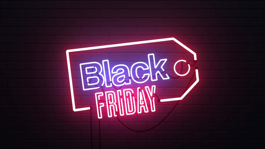 Black Friday sale neon sign banner background for promo video. concept of sale and clearance | Shutterstock HD Video #1038638894