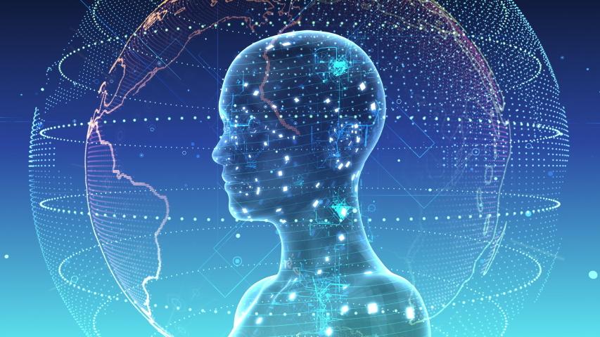 AI, artificial intelligence digital network technologies concepts Background. | Shutterstock HD Video #1038901694