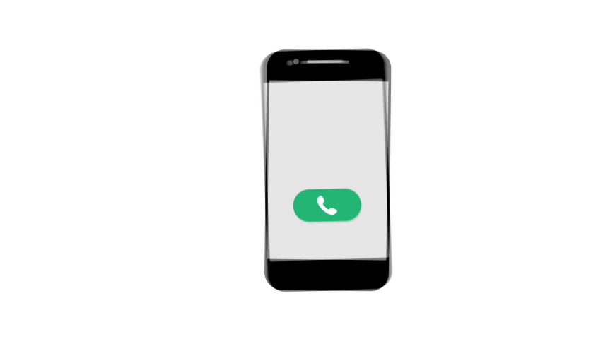 Phone calls. transparent background. the Smart Phone rings. flat | Shutterstock HD Video #1039035824