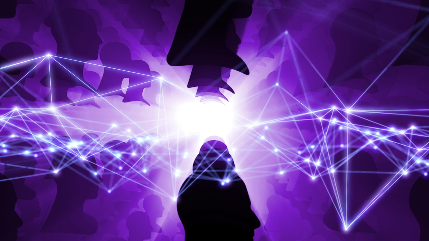 AI (Artificial Intelligence) concept. Communication network. | Shutterstock HD Video #1039402304