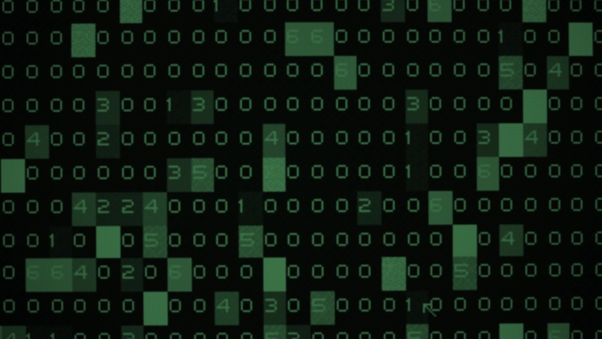 Random Moving numbers overlays. Zoom in effect. Green numbers go on a monitor. Binary code. | Shutterstock HD Video #1039419074