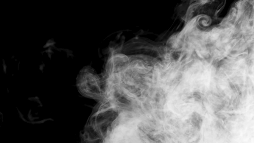 Abstract smoke cloud. White smoke in slow motion on black background. on my profile you will find all types of smoke.4K resolution. On my profile you will find all types of smoke. #1040144054
