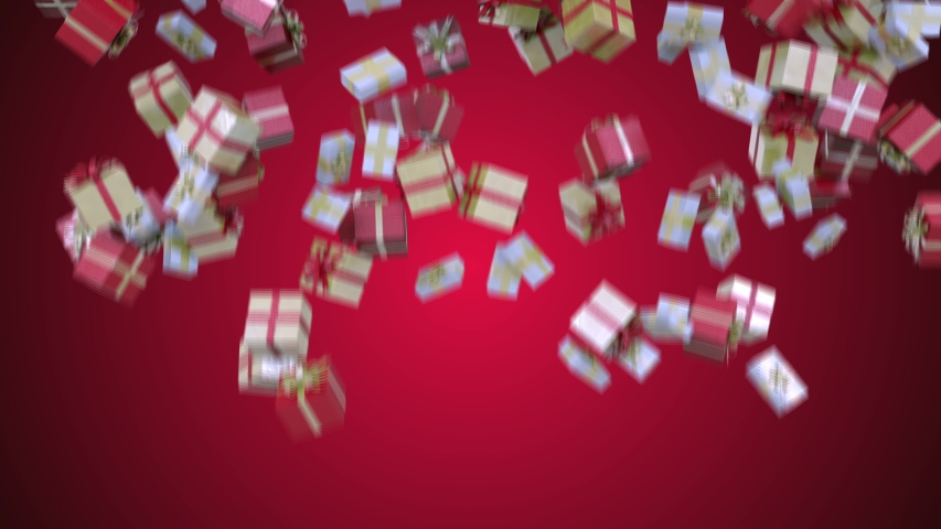 Transition with Christmas Gifts in 4K | Shutterstock HD Video #1040154194